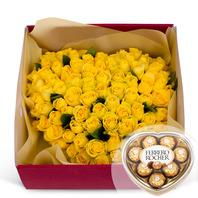 사랑의마력(노랑)100송이(초콜렛포함)